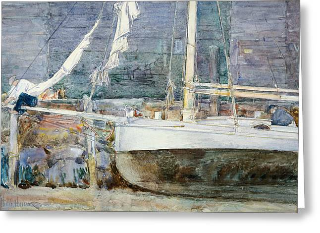 Drydock, Gloucester Greeting Card by Childe Hassam