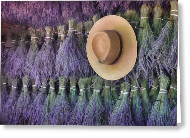 Drying Lavender Greeting Card