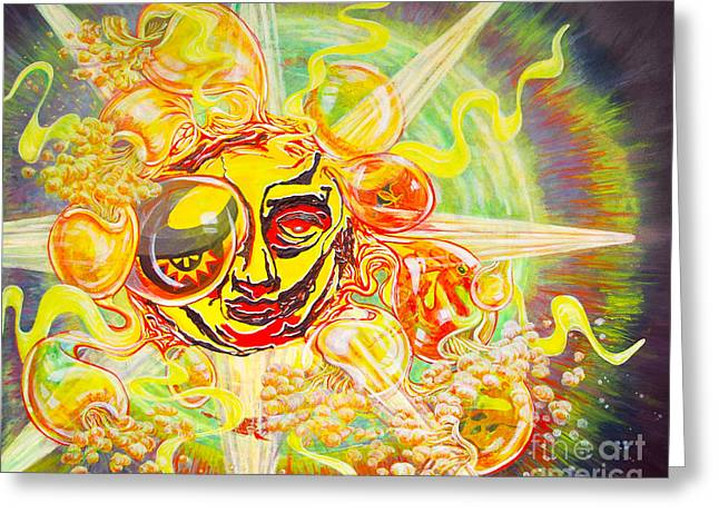 2015 Cbs Sunday Morning Sun Art-solar Flares Greeting Card