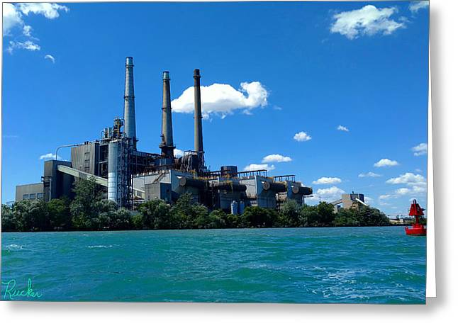 Dte River Rouge Power Plant Greeting Card