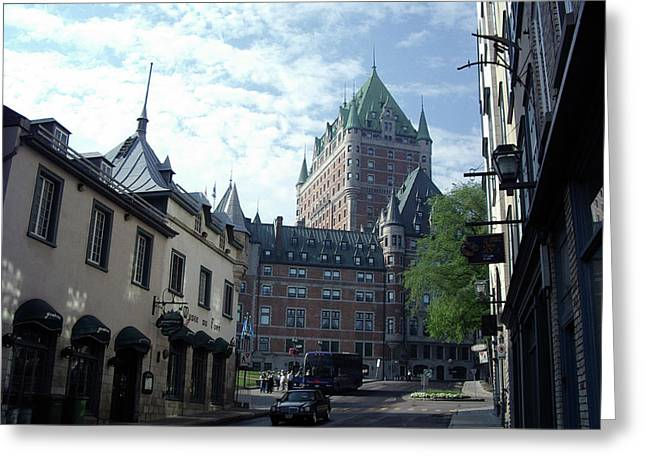 Greeting Card featuring the photograph du Fort Chateau Frontenac by John Schneider