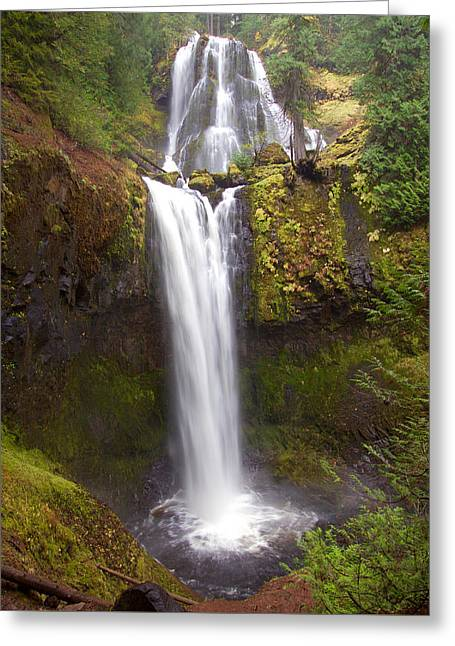 Greeting Card featuring the photograph Dual Cascade by Todd Kreuter