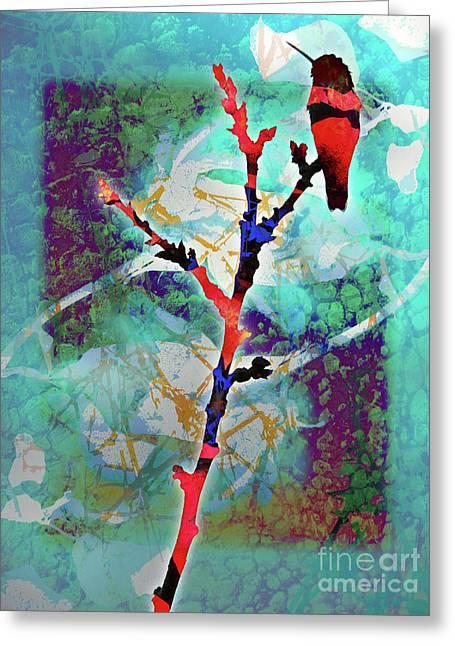 Dual Roses Greeting Card by Robert Ball
