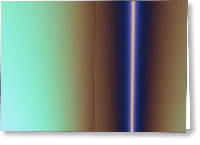 Greeting Card featuring the digital art Duality IIi by Dragica  Micki Fortuna
