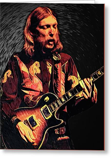 Duane Allman Greeting Card