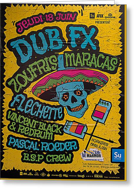 Dub Fx And Zoufris Maracas Poster Greeting Card