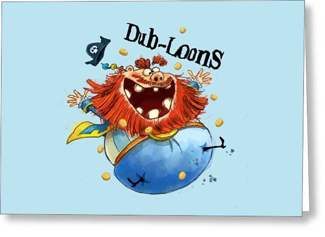 Dub-loons Greeting Card by Andy Catling