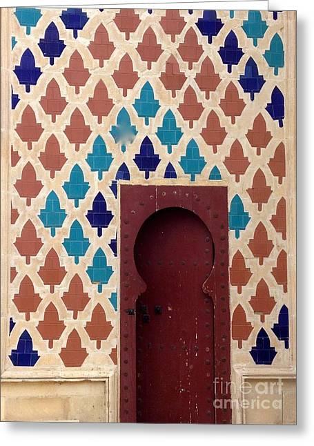 Dubai Doorway Greeting Card