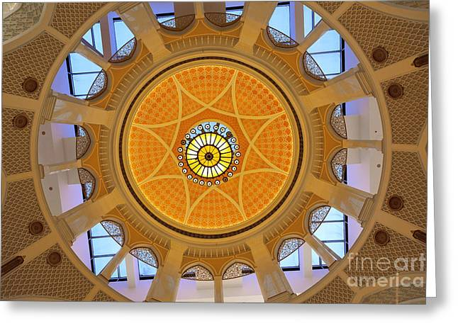 Greeting Card featuring the photograph Dubai Mall Dome  by Juergen Held