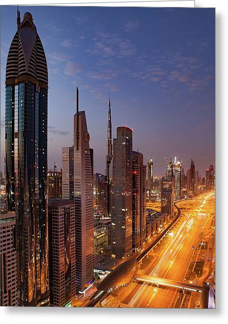 Greeting Card featuring the photograph Dubai by Ryan Miglinczy