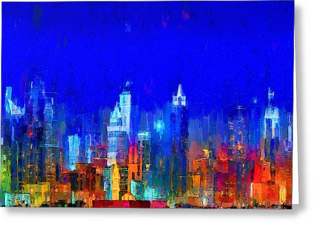 Dubai Skyline 50 - Pa Greeting Card