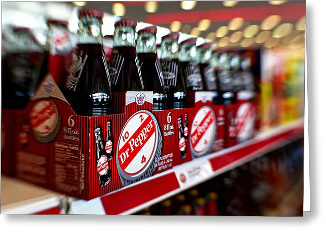 Dublin Dr Pepper Greeting Card by Charrie Shockey