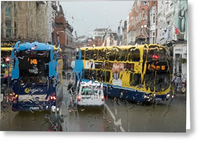 Dublin In The Rain 1 Greeting Card
