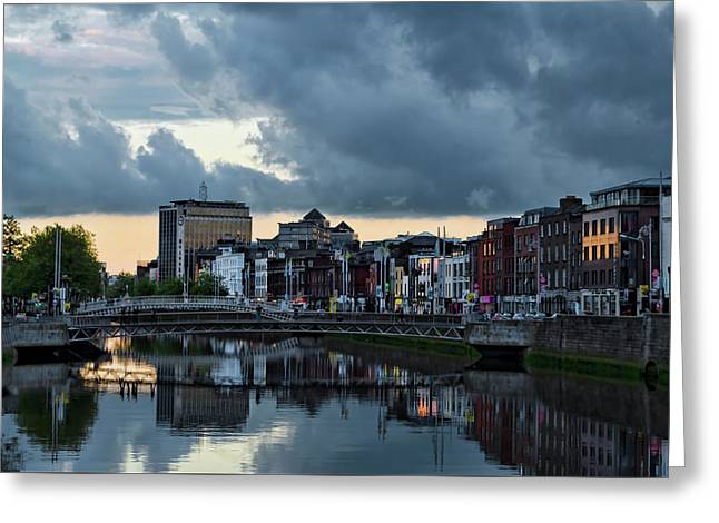Dublin Sky At Sunset Greeting Card