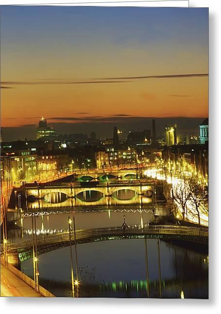 Dublin,co Dublin,irelandview Of The Greeting Card