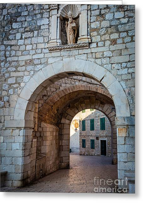 Dubrovnik Entrance Greeting Card by Inge Johnsson