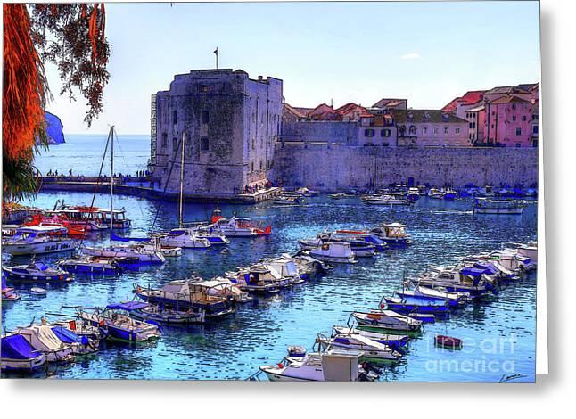 Dubrovnik Harbour Greeting Card