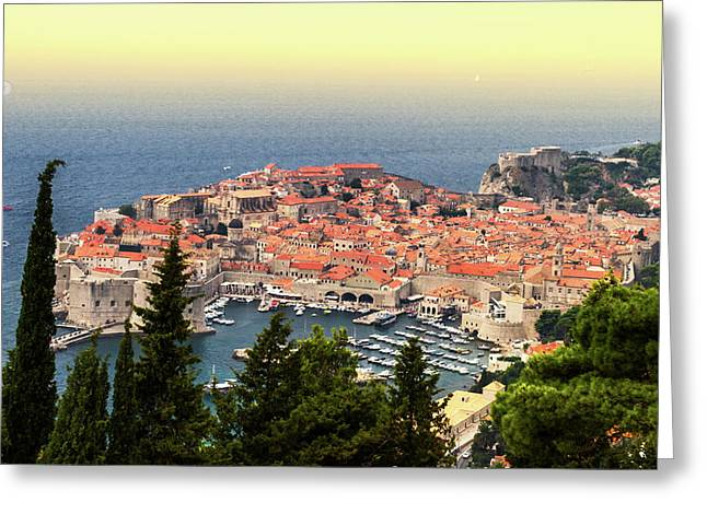 Dubrovnik Old City On The Adriatic Sea, South Dalmatia Region, C Greeting Card