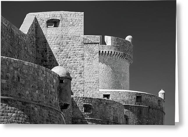 Dubrovnik Old Town Walls Greeting Card