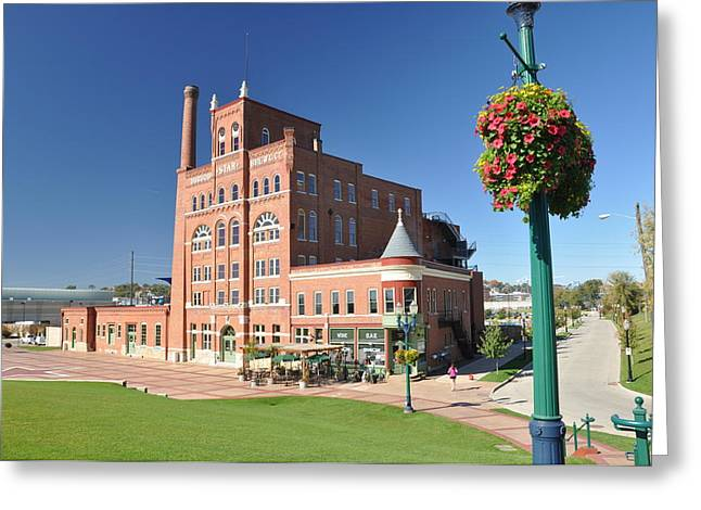 Dubuque Star Brewery Greeting Card