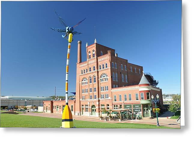 Dubuque Star Brewery With Fly Greeting Card