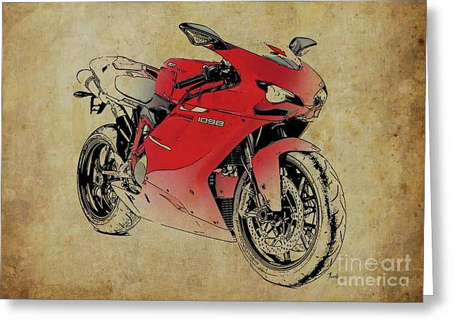 Today/'s Your Day Greeting Card NEW Red Motorcycle Sidecar Motorbike Wilderness