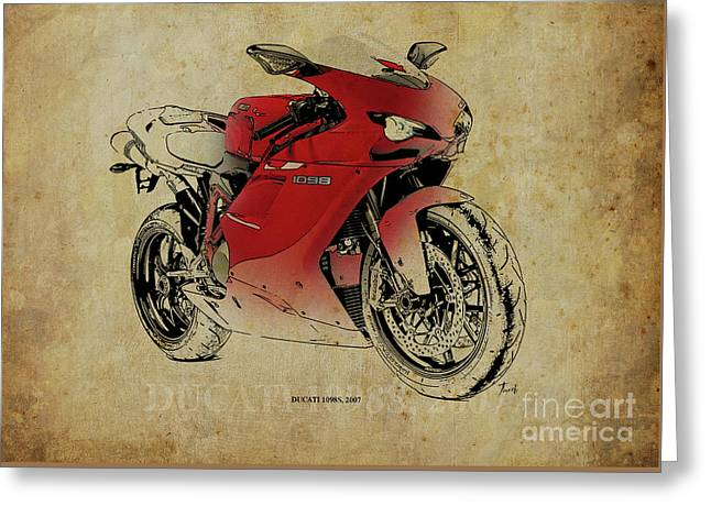 Ducati 1098s, Gift For Bikers, Original Gift For Dad Greeting Card