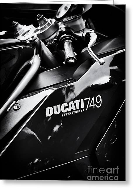 Ducati 749 Testastretta Greeting Card by Tim Gainey