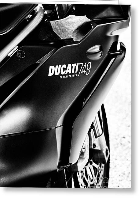 Ducati 749 Greeting Card by Tim Gainey