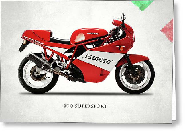 Ducati 900 Super Sport 1990 Greeting Card by Mark Rogan