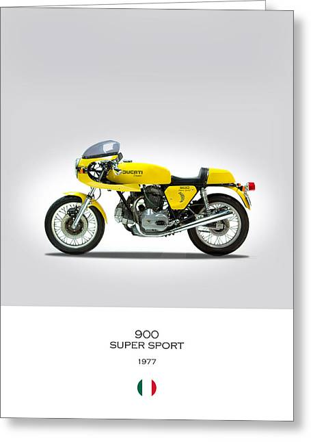 Ducati 900 Super Sport Greeting Card by Mark Rogan