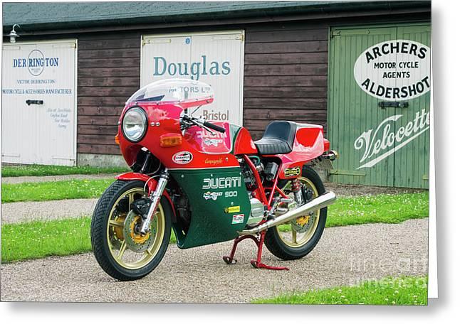 Ducati 900cc Mike Hailwood Replica Greeting Card