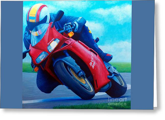 Ducati 916 Greeting Card by Brian  Commerford