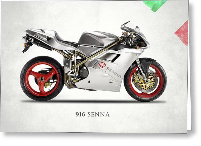 Ducati 916 Senna Greeting Card by Mark Rogan