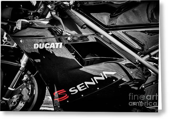 Ducati 916 Senna Greeting Card by Tim Gainey