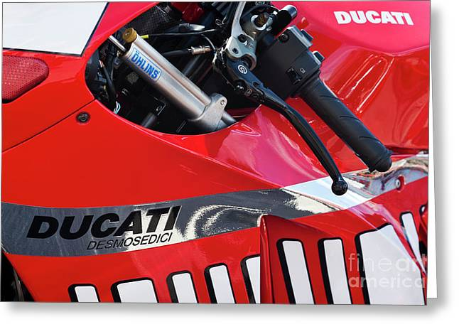 Ducati Desmosedici Abstract  Greeting Card by Tim Gainey