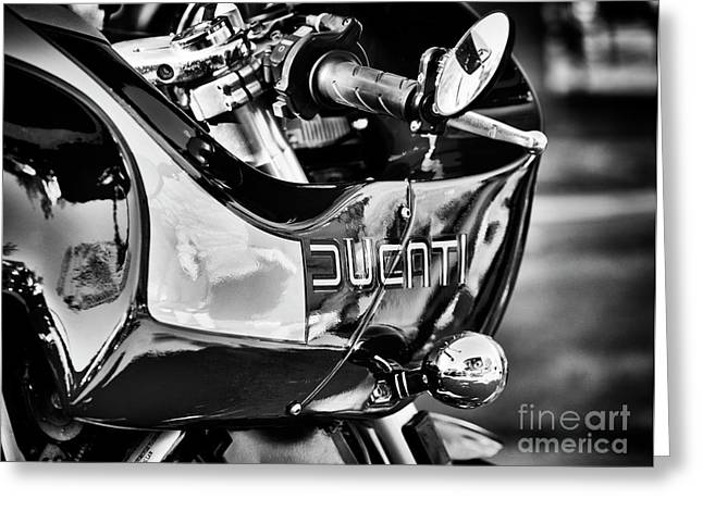 Ducati Mh900 Evoluzione Monochrome Greeting Card by Tim Gainey