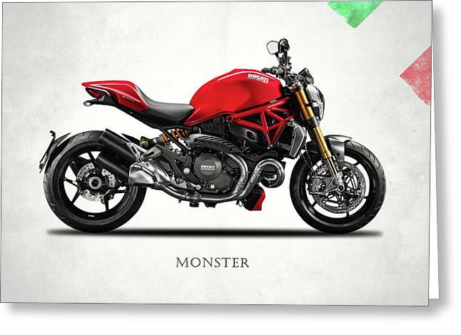 Ducati Monster Greeting Card by Mark Rogan