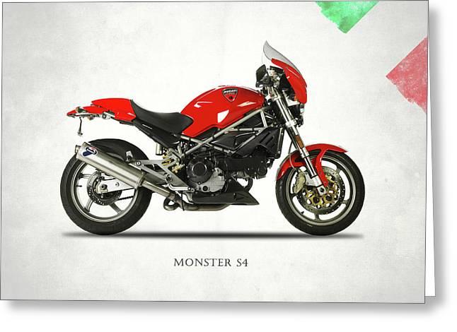 Ducati Monster S4 Sps Greeting Card by Mark Rogan