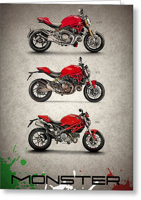 Ducati Monster Trio Greeting Card