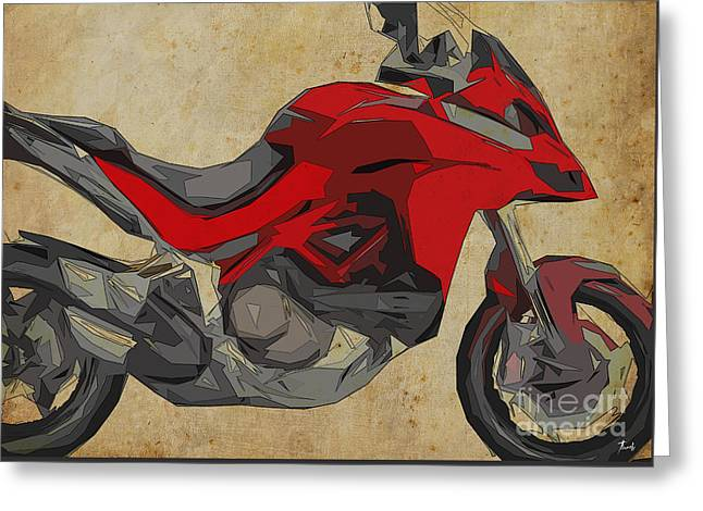 Ducati Multistrada 1200 2015 Greeting Card by Pablo Franchi