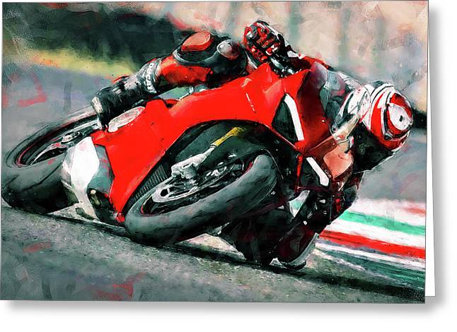 Ducati Panigale V4 - 01 Greeting Card