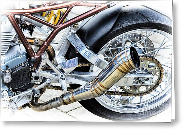 Ducati Power Greeting Card by Tim Gainey