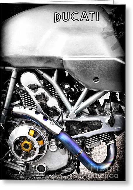 Ducati Ps1000le Engine Greeting Card