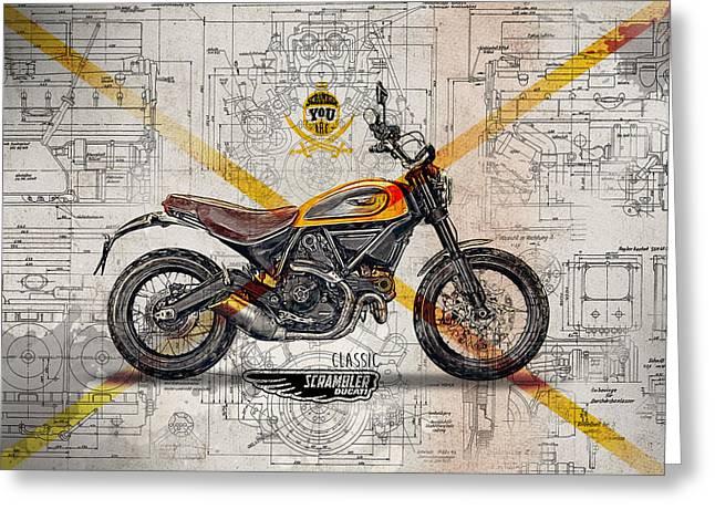 Ducati Scrambler Classic Greeting Card