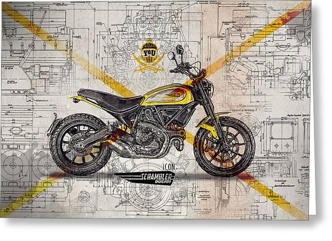 Ducati Scrambler Icon Greeting Card