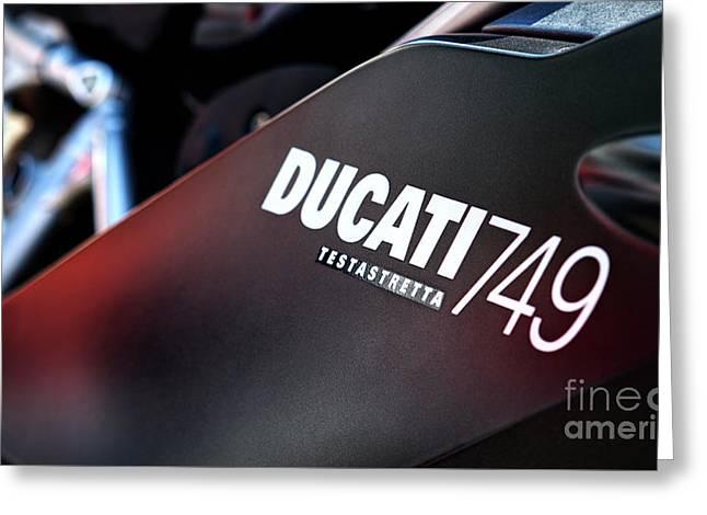 Ducati Testastretta Greeting Card by Tim Gainey