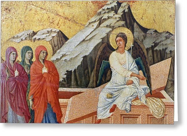 Duccio - Three Marys Greeting Card by Granger