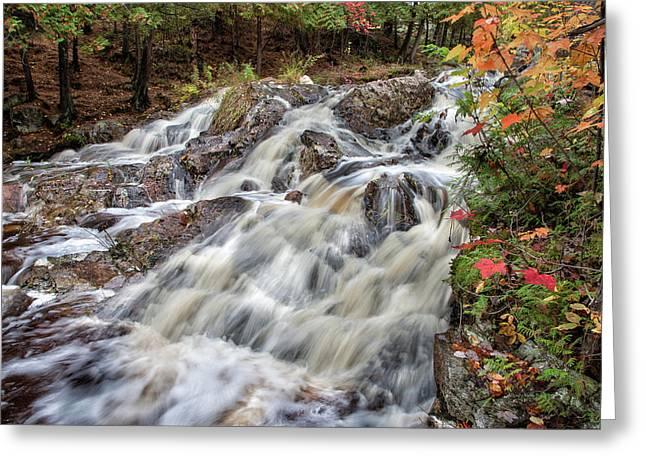 Duchesnay Falls Greeting Card by Brian Boudreau
