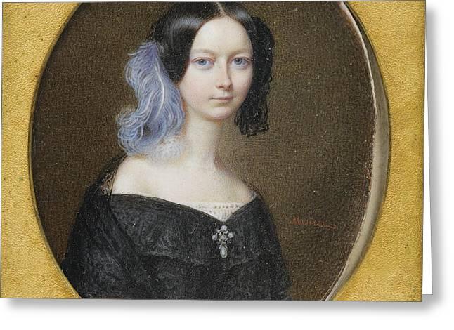 Duchesse Helene De Mecklenburg-schwerin Greeting Card by Celestial Images